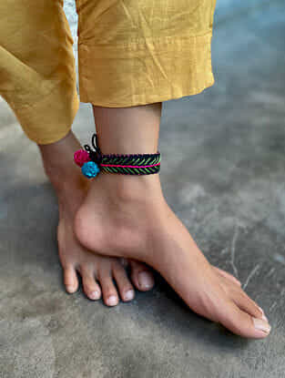 Multicolour Handcrafted Thread Anklet