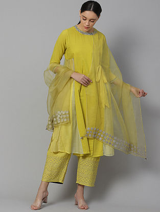 Haley  Cotton  and  Chanderi Kurta