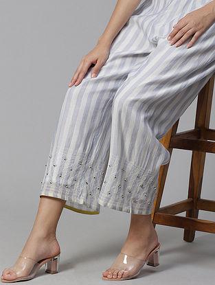 Creta  Chanderi Pyjamas with Beadings