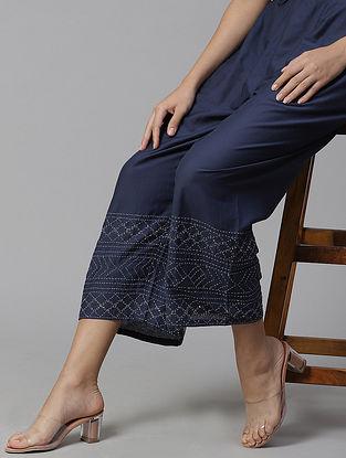 Heqet  Cotton Silk Pyjamas with Kantha Details