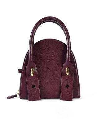 Burgundy Genuine Leather Clutch
