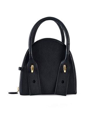 Black Genuine Leather Clutch