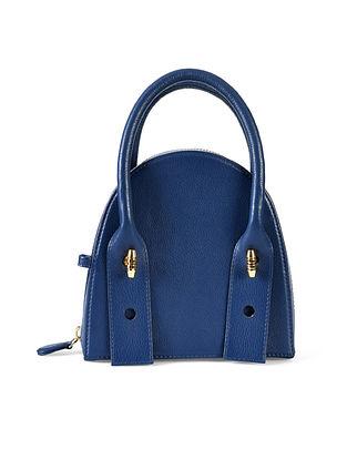 Blue Genuine Leather Clutch