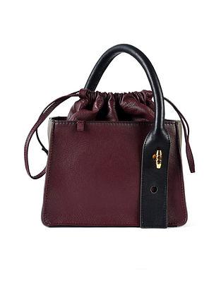 Burgundy Genuine Leather Hand Bag