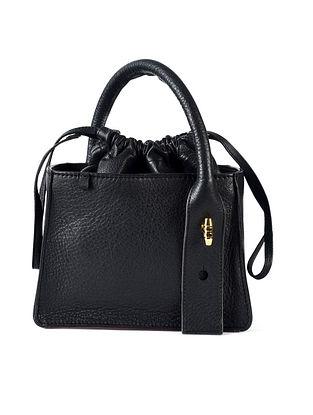 Black Genuine Leather Hand Bag