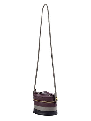 Multicolored Genuine Leather Sling Bag