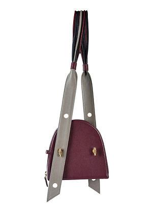 Burgundy Genuine Leather Sling Bag