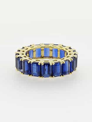 Natural Kyanite Gold Ring