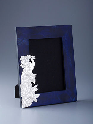 Peacock Silver Plated Brass and Compressed Stone Photo Frame (L - 10in, W - 9in, H - 1in)