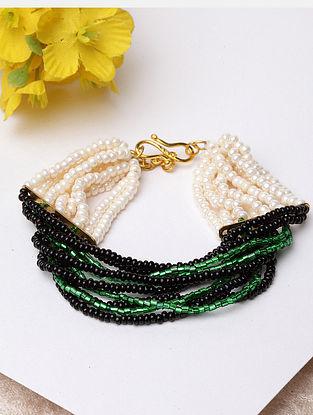 Black Green Beaded Bracelet