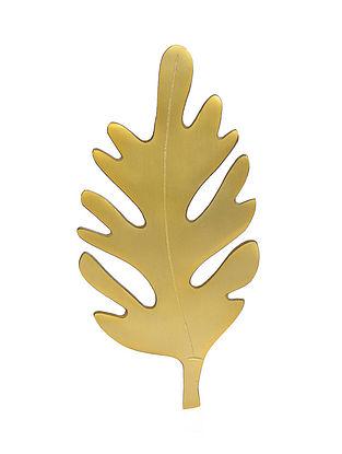 Leaf Gold Aluminum Trivet (13in x 6in)