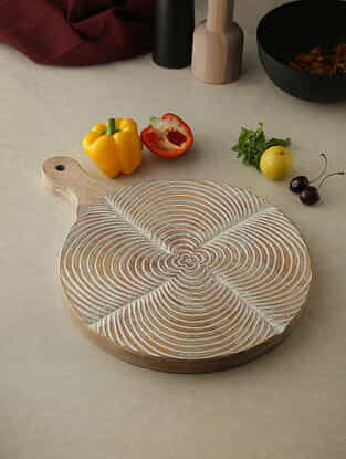 White Wood Chopping Board (16in x 10in)