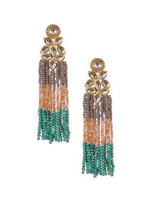 Multicolored Kundan Beaded Earrings
