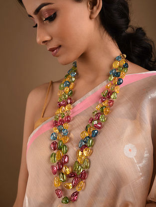 Multicolored Beaded Layered Necklace