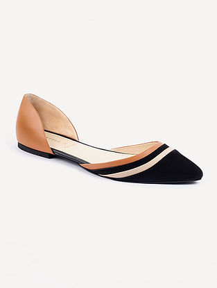 Black Nude Handcrafted Genuine Leather Shoes