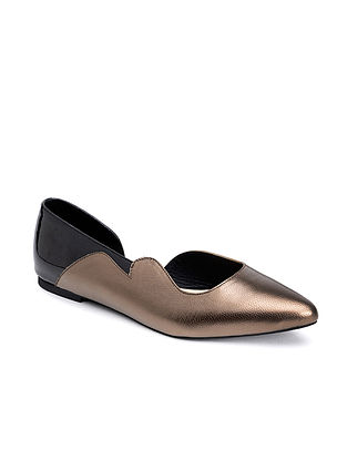 Silver Black Handcrafted Genuine Leather Shoes