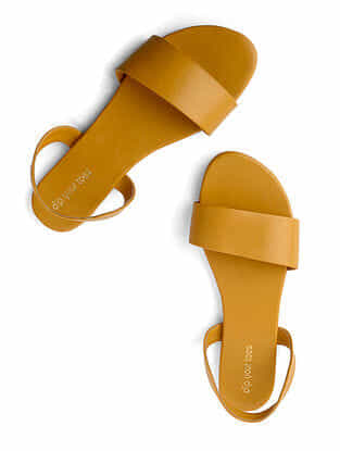 Mustard Handcrafted Faux Leather Sandals