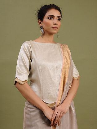 Silver-Golden Cotton Tissue Blouse