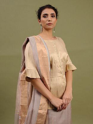 Golden Cotton Tissue Blouse