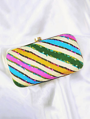 Multicolored Handcrafted Cotton Clutch
