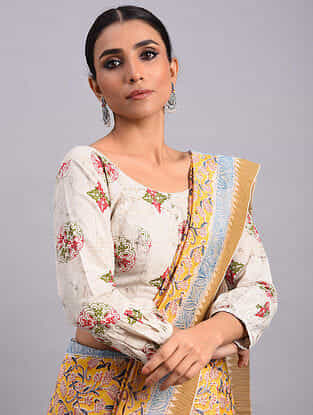 Ivory Dabu Cotton Blouse