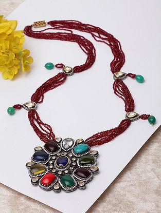 Multicolored Navratan Beaded Necklace