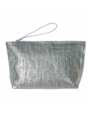 Silver Handcrafted Recycled Pouch