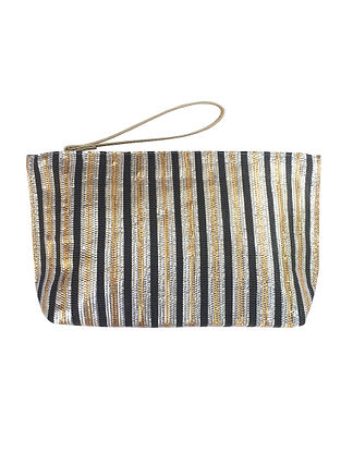 Multicolored Handcrafted Recycled Polyester Pouch