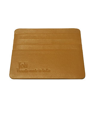 Tan Handcrafted Leather Card Holder