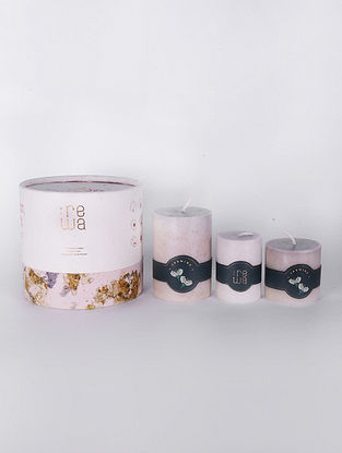 Jasmine White Handmade and Hand poured Candles (Set of 3)