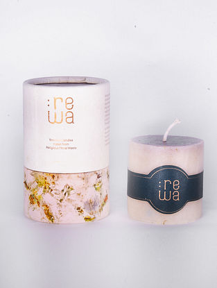 White Handmade and Hand poured Candle (H - 2.5in, Dia - 2.5in)