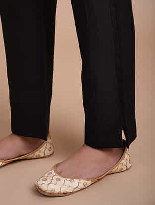 Black Chanderi Pants