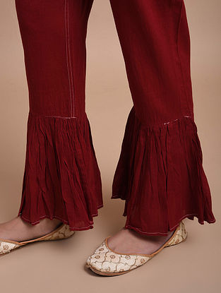 Maroon Cotton Pants