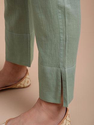 Grey Green Cotton Pants