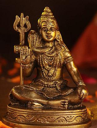 Brass Shiva (L - 2.2in, W - 3in, H - 4in)