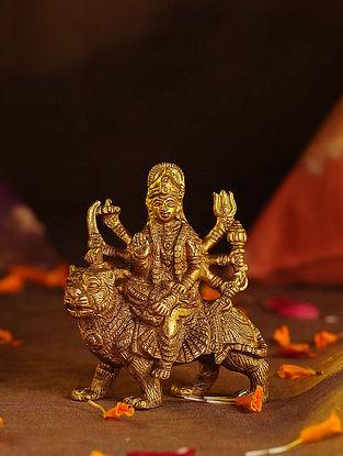 Brass Durga (L - 3in, W - 1.5in, H - 3.6in)