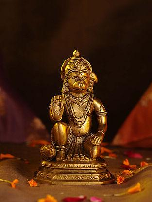 Brass Hanuman (L - 2.6in, W - 3.2in, H - 5in)
