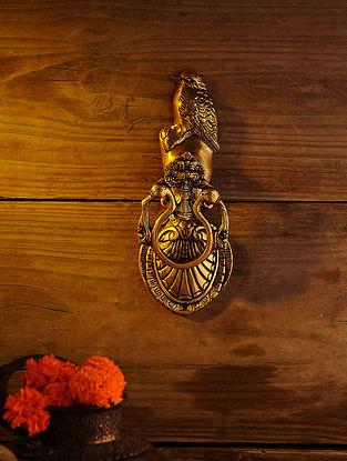 Brass Bird Door Knocker (L - 9.5in, W - 3.5in)