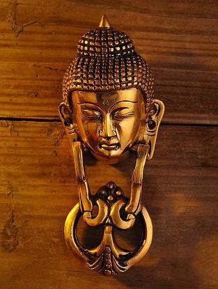 Brass Buddha Door Knocker (L - 8.3in, W - 3.3in)