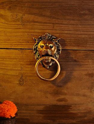 Brass Lion Door Knocker (L - 5.5in, W - 3.2in)