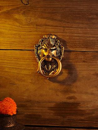 Brass Lion Door Knocker (L - 6in, W - 3.6in)