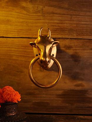 Brass Nandi Door Knocker (L - 7.2in, W - 4.2in)