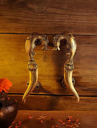 Brass Door Handle - Set of 2 (L - 10.5in, W - 3.5in)