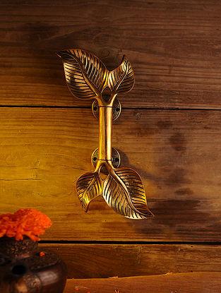 Brass Leaf Door handle (L - 11in, W - 4.6in)