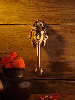 Brass Buddha Door Handle (L - 9.5in, W - 3.2in)