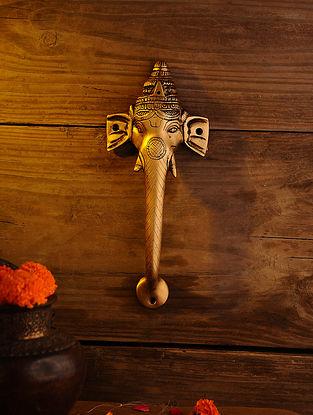 Brass Ganesh Door Handle (L - 11.2in, W - 4.5in)