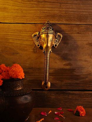 Brass Ganesh Door Handle (L - 9.7in, W - 4.2in)