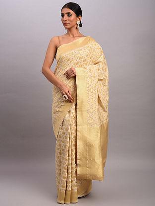 Brown Handwoven Benarasi Cotton Saree