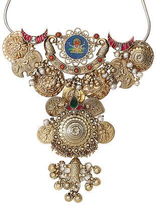 Simatvi-Vintage Silver Pendant with Chain