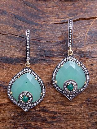 Blue Calcedony Silver Earrings